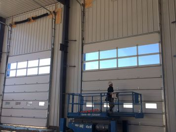 Shop Overhead Door Install
